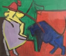 Adrien Seguin (1926-2005) - Gouache sur papier . v 320