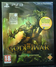 GOD OF WAR 3 III  SPECIAL EDITION LIMITED VERSIONE ITALIANA NUOVO PS3