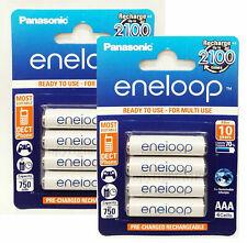 8 AAA Panasonic Eneloop BK-4MCCE Rechargeable Batteries min 750 mAH