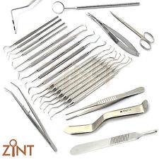 Dental sondas Gracey DeBackey Orban cuchillo Retractor de carbono bisturí Pinza Kit