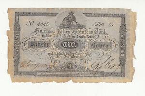 Sweden 2 riksdaler 1851 circ. @ low start