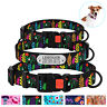 Personalized Pet Collars Floral Nylon Buckle Dog Collar for Dogs Puppy S M L XL