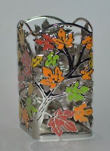 BATH & BODY WORKS TREE LEAVES COLORFUL GENTLE FOAMING HAND SOAP SLEEVE HOLDER
