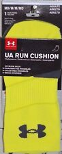 Under Armour No Show Socks Medium Yellow Highlight UA Run Cushion Performance