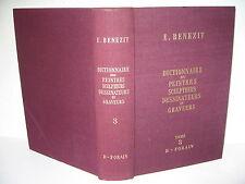 BENEZIT DICTIONNAIRE PEINTRES SCULPTEURS DESSINATEURS GRAVEURS TOME 3 GRUND 1966