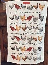 EMMA BRIDGEWATER . Lots of Chickens . TEA TOWEL . Hens
