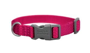 Basic Dog Collar w/ Plastic Buckle - Boots & Barkley - Pink - L