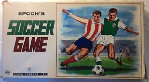 Epoch Vintage Tin Mechanical 1970s Soccer Football Game with Box