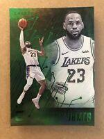 2019-20 Panini Chronicles Essentials LeBron James #223 LA Lakers Green Parallel