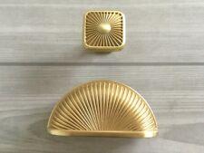 76 mm Gold Schalengriffe Muschel Griffe Schubladen Griff Schrank Möbel Knauf