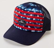 O'Neill EZ FREAK TRUCKER Mens Adjustable Snapback Hat Red White Blue NEW 2018