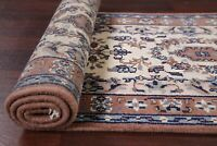 NEW Traditional Floral IVORY Indo Bidjar Runner Rug Hand-Knotted 2x10 2x11 2x4