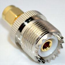 SMA-UHF SMA Plug male to UHF Jack SO239 straight adapter