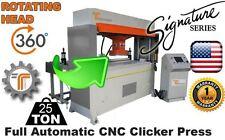 NEW! CJRTec 25 Ton Travel Head Clicker Press Full Automatic CNC w/ Rotating Head