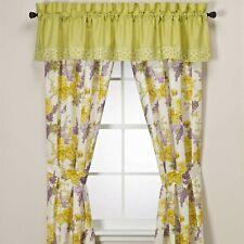Laura Ashley Whitaker floral Rod Pocket Drapes Curtains Lilac Yellow NIP 2 avail