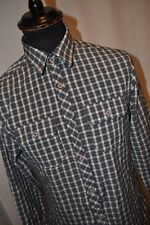 Vintage Lee Cooper blue check western shirt size small