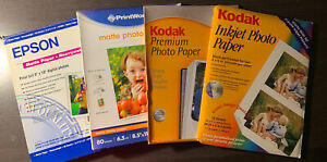 Mixed Lot of 150 Total Sheets Of Photo Paper: Matte, High Gloss, Open Boxes