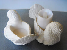 """2 Dove Candle Holders 4"""" x 3"""" each Ready to Paint, Unpainted Ceramic Bisque"""