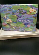 "NIB Hallmark Event Album Guest Book Monet ""Water Lilies 7 1/2"" X 5 3/4"""