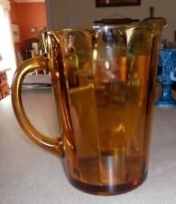 """7 3/4"""" Amber Water Pitcher"""
