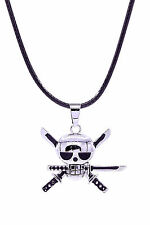 One Piece Cosplay Costume Accessory Roronoa Zoro Skeleton Pendant Necklace V1