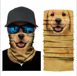 Happy Golden Puppy FACE MASK Smile Balaclava Hood Sport Tube Scarf Gaiter
