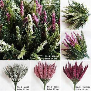 Künstliche Erika 24/30 Blüten - Heide kraut Busch Strauch Kunstpflanze wetterfes