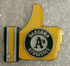 "YELLOW OAKLAND A's ""LIKE"" Thumbs Up Lapel PIN"