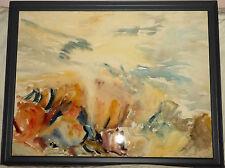 "CORNWALL ARTIST SHEILA CAVELL-HICKS ABSTRACT IMPRESSIONIST WATERCOLOUR ""BEACH"""