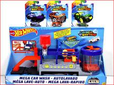 LOT 4 - Hot Wheels COLOR SHIFTERS Mega Car Wash + 4 Color Changing Diecast Cars