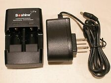 Soshine Battery Charger for LiFePO4 RCR123A CR123A CR2 3.0V + 12v  Car Adaptor