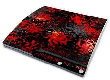 Playstation 3 SLIM Aufkleber PS3 Skin Design Sticker Schutzfolie Red Plasma
