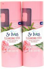2 St Ives 1.59 Oz Rose Water & Bamboo Cleansing Stick Washes Away Excess Oil