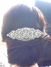 Vintage Bridal Wedding Pearls Rhinestones Crystal Silver Hair Comb Headpiece NEW