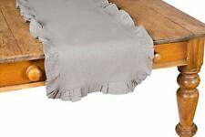 Xia Home Fashions Ruffle Trim Solid Table Runner, 16 by 72-Inch, Taupe