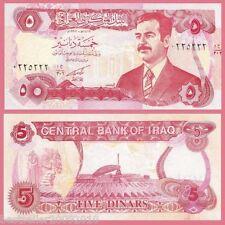 IRAQ 5 DINAR SADDAM HUSSAIN UNC # 359