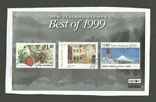 "New Zealand ""Best of 1999"" miniature sheet, postally used on piece."