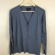 Pendleton Cardigan Mens Size L Sweater Blue Button Up Long Sleeve Silk Blend