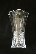 Farm Tractor Vase Flower/Table Cut Crystal Glass Vase Farming Gift