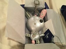 Swarovski mathilde bag charm  leather and crystal   MINT NEW WITH TAGS