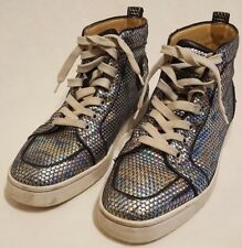 Christian Louboutin Orlato Sneakers Shoes Hi Top Rainbow Color Sz 40 ChromaFlair
