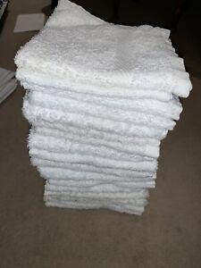 FACE TOWEL X18 - WHITE FLANNEL MIXED ASSORTMENT - BATHROOM BATH