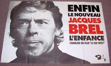 JAQUES BREL FRENCH RECORD COMPANY PROMO POSTER 'L'ENFANCE' childhood SINGLE 1973
