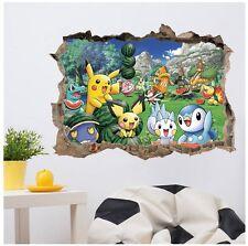 Pokemon Go Wandtattoo Wandsticker Wandaufkleber Kinderzimmer Deko Kind
