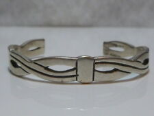 MEXICO MEXICAN TV-127 STERLING SILVER WOMENS MODERN ESTATE CUFF BRACELET