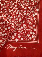 Valentine's Vintage Maryann Red Heart Scarf