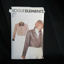 Vogue Elements Pattern 9707 Denim Bomber Jacket CUT Size Large 16 18 Vtg 1997