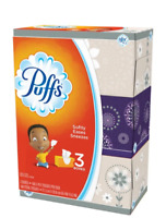 Puffs Basic 2-Ply Facial Tissues, White, 180 Tissues Per Box, Case Of 3 Boxes