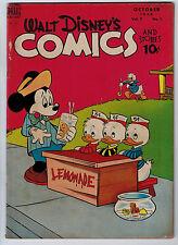 WALT DISNEY COMICS AND STORIES #97 3.5 TAN PAGES GOLDEN AGE