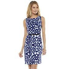 Brand NEW AB Studio Mosaic Pleated Sheath Dress (Sz-10)-NWT + Free Shipping